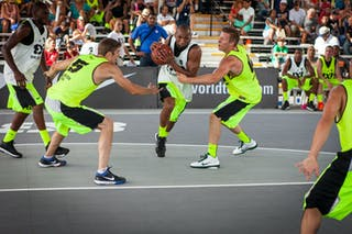 San Cristobal vs Saskatoon at the San Juan Masters 10-11 August 2013 FIBA 3x3 World Tour, San Juan, Puerto Rico