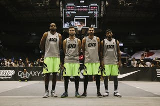 Team Denver, team photo, FIBA 3x3 World Tour Final Tokyo 2014, 11-12 October.