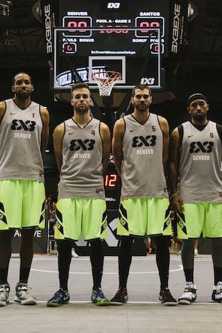 Team Denver, team photo, FIBA 3x3 World Tour Final Tokyo 2014, 11-12 October.