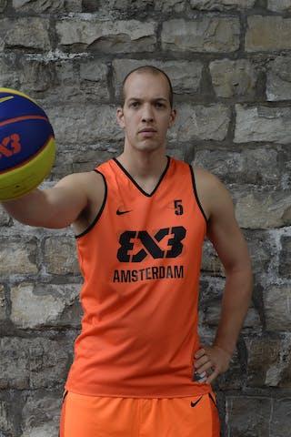 #5 Trommelen Sander, Team Amsterdam, FIBA 3x3 World Tour Lausanne 2014, 29-30 August.