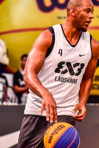 5 Alvaro Calvo (ESP) - 4 Derrick Lang (SUI) - Lausanne v Valladolid, 2016 WT Lausanne, Pool, 26 August 2016