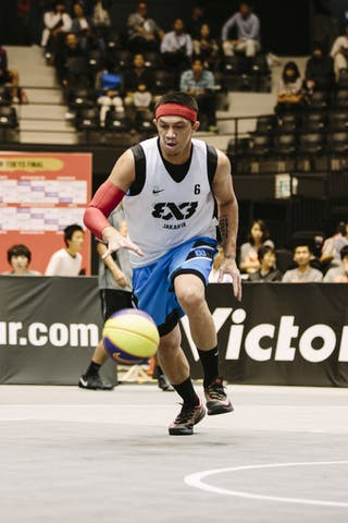 #6 Surawi Vinton Nollan, Team Jakarta, FIBA 3x3 World Tour Final Tokyo 2014, 11-12 October.