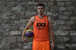 #5 Srebovt Anze, Team Trbovlje, FIBA 3x3 World Tour Lausanne 2014, 29-30 August.