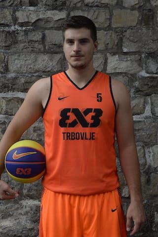 #5 Srebovt Anze, Team Trbovlje, FIBA 3x3 World Tour Lausanne 2014, 29-30 August.
