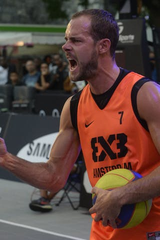 #7 Jobse Jesper, Team Amsterdam, FIBA 3x3 World Tour Lausanne 2014, 29-30 August.