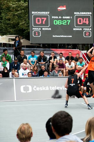 Team Bucharest vs Team Kolobrzeg. 2014 World Tour Prague. 3x3 Game. 23 August. Day 1.