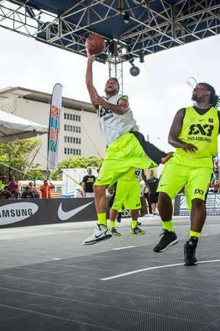 Team Denver vs Philadephia at the San Juan Masters 10-11 August 2013 FIBA 3x3 World Tour, San Juan, Puerto Rico