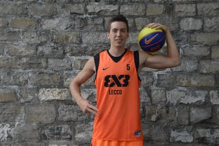 #5 Negri Andrea, Team Lecco, FIBA 3x3 World Tour Lausanne 2014, 29-30 August.