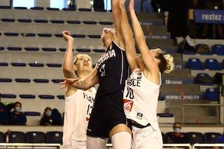 17 Ema Mihaljevičová (SVK) - 13 Sixtine Macquet (FRA) - 10 Emma Peytour (FRA)