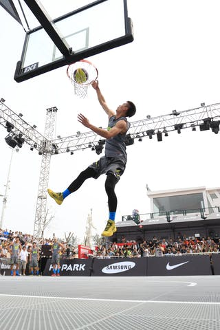 Dunk contest, 2014 World Tour Beijing, 3x3game, 2-3 August.