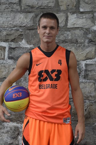 #4 Bjelica Dragan, Team Belgrade, FIBA 3x3 World Tour Lausanne 2014, 29-30 August.