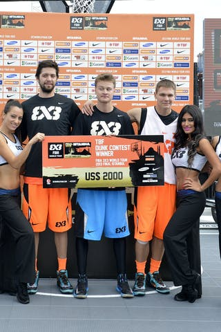 Winner of the dunk contest 2013 FIBA 3x3 World Tour final in Istanbul