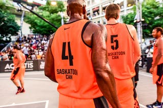 6 Nolan Brudehl (CAN) - 3 Michael Linklater (CAN) - 4 Willie Murdaugh (CAN) - 5 Michael Lieffers (CAN) - Saskatoon v Kranj, 2016 WT Lausanne, Semi final, 27 August 2016