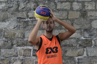 #7 Mitrovic Danilo, Team Belgrade, FIBA 3x3 World Tour Lausanne 2014, 29-30 August.