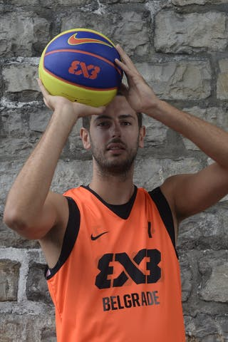 #7 Mitrovic Danilo, Team Belgrade, FIBA 3x3 World Tour Lausanne 2014, 29-30 August.