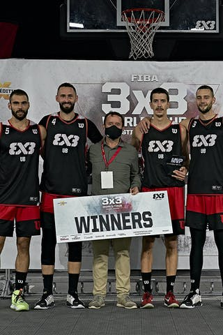 FIBA 3x3, World Tour 2021, Mtl, Can, Esplanade Place des Arts. Prize Ceremony