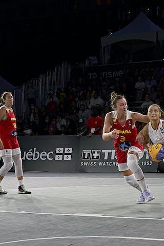 32 Rebekka Kalaydjiev (AUT) - FIBA 3x3, World Tour 2021, Mtl, Can, Esplanade de la Place des Arts. Women final Spain vs Austria