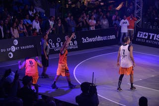 #4 Antar Moeman for 3pts shot, Team Monastir, FIBA 3x3 World Tour Lausanne 2014, Day 1, 29. August.