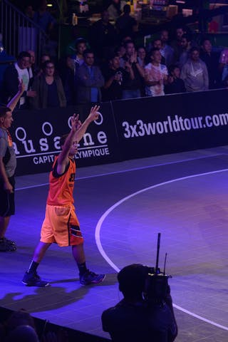 #4 Antar Moeman for 3pts shot, Team Monastir, FIBA 3x3 World Tour Lausanne 2014, Day 1, 29. August.