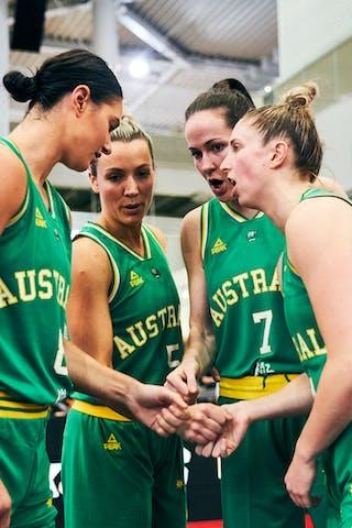 8 Alice Kunek (AUS) - 7 Keely Froling (AUS) - 5 Maddie Garrick (AUS) - 4 Bec Cole (AUS) - Game3_Pool B_Netherlands vs Australia