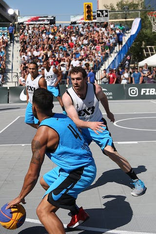 3 Steve Sir (CAN) - 4 Tjader Fernandez (PUR) - Saskatoon vs Gurabo in the FIBA 3x3 World Tour Saskatoon 2017 semi final