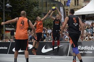 Dusan Dominic Bulut . Team Novi Sad. 2014 World Tour Prague. 3x3 Game. 23 August. Day 1.