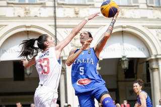5 Marcella Filippi (ITA) - 13 Tamara Rajic (SRB)