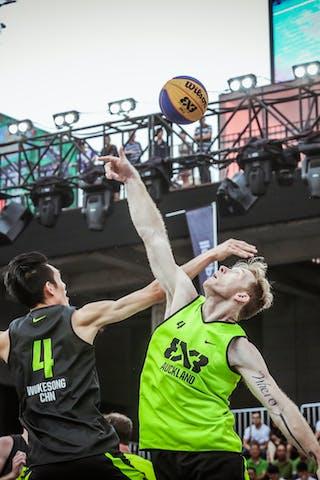 4 Qingbin Huang (CHN) - 4 James Mcleod (NZL) - Auckland v Wukesong, 2016 WT Beijing, Pool, 17 September 2016