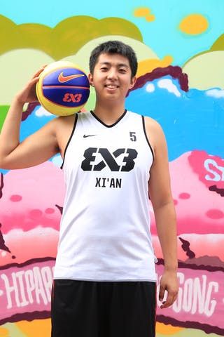 #5 Xin Zhang, Team Xi'an, FIBA 3x3 World Tour Beijing 2014, 2-3 August.