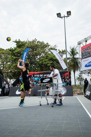#4 Del'Arco Rodrigo Diguinho, Team Sao Paulo, shoot-out contest, FIBA 3x3 World Tour Rio de Janeiro 2014, Day 2, 28. September.