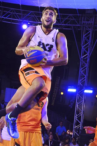 #5 Laurent Thomas, Team Menton, FIBA 3x3 World Tour Lausanne 2014, Day 1, 29. August.