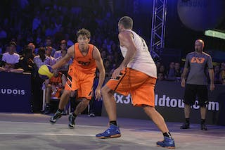 #4 Finzgar Simon, Team Trbovlje, FIBA 3x3 World Tour Lausanne 2014, Day 2, 30. August.
