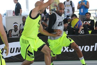 #5 Jose Lopez. Team San Juan. 2014 World Tour Chicago. 3x3 Game. 15 August. Day 1.