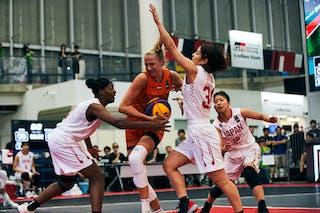 12 Naho Miyoshi (JPN) - 3 Stephanie Mawuli (JPN) - 30 Mio Shinozaki (JPN) - Game5_Pool B_Japan vs Netherlands