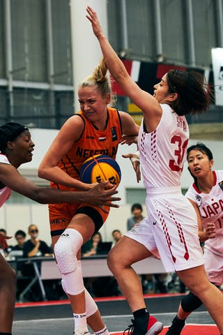 12 Naho Miyoshi (JPN) - 3 Stephanie Mawuli (JPN) - 30 Mio Shinozaki (JPN) - Game5_Pool B_Japan vs Netherlands