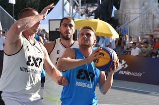 3 Eddy Steiner (FRA) - 6 Dusan Domovic Bulut (UAE) - 5 Marko Savić (UAE) - Novi Sad Al Wahda v Bordeaux, 2016 WT Debrecen, Pool, 7 September 2016