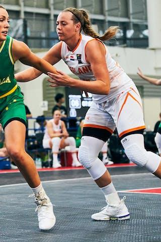 18 Fleur Kuijt (NED) - 5 Maddie Garrick (AUS) - Game3_Pool B_Netherlands vs Australia