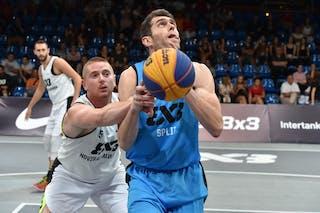 6 Duje Kaliterna (CRO) - 5 Marko Savić (UAE) - Novi Sad Al Wahda v Split, 2016 WT Debrecen, Pool, 7 September 2016