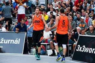#4 Alexander Lisichkin & #5 Andrey Kanygin. Team Leningrad. 2014 World Tour Prague. 3x3 Game. 23 August. Day 1.