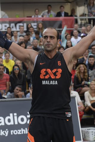 #6 Ismael Reina. Team Malaga. 2014 World Tour Prague. 3x3 Game. 23 August. Day 1.