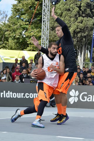 #3 Novi Sad (Serbia) Final Game Brezovica vs Novi Sad at the 2013 FIBA 3x3 World Tour final in Istanbul