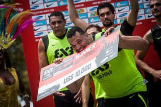 Fabio Santos, Team Sao Paulo, winner of the FIBA 3x3 World Tour Rio de Janeiro 2014, Day 2, 28. September.