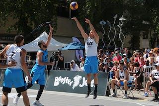 6 Igor Lebov (CAN) - 7 Mihailo Vasic (SRB) - 4 Stefan Stojačić (SRB)