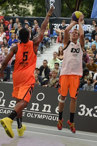 #7 Meroni Leonardo, Team Lecco, FIBA 3x3 World Tour Lausanne 2014, Day 1, 29. August.