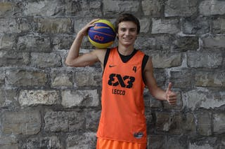 #4 Todeschini Davide, Team Lecco, FIBA 3x3 World Tour Lausanne 2014, 29-30 August.