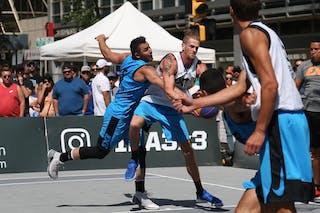 7 Blaz Cresnar (SLO) - 5 Vadim Halimov (CAN) - Ljubljana vs Hamilton in the FIBA 3x3 World Tour Saskatoon 2017 semi final