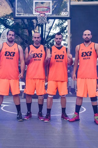 Juan VASCO TRABADO (Spain); Ismael SANCHEZ REINA (Spain); Javier MERAS RAMIREZ (Spain); José ROJAS MARTIN (Spain). Team Malaga, 2015 WT Lausanne, Pool, 28 August 2015