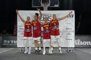FIBA 3x3, World Tour 2021, Mtl, Can, Esplanade de la Place des Arts. AUSTRIA VS SPAIN FINAL