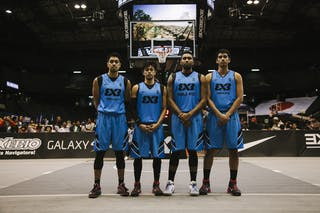 Team Manila West, team photo, FIBA 3x3 World Tour Final Tokyo 2014, 11-12 October.