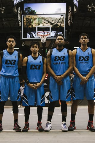 Team Manila West, team photo, FIBA 3x3 World Tour Final Tokyo 2014, 11-12 October.